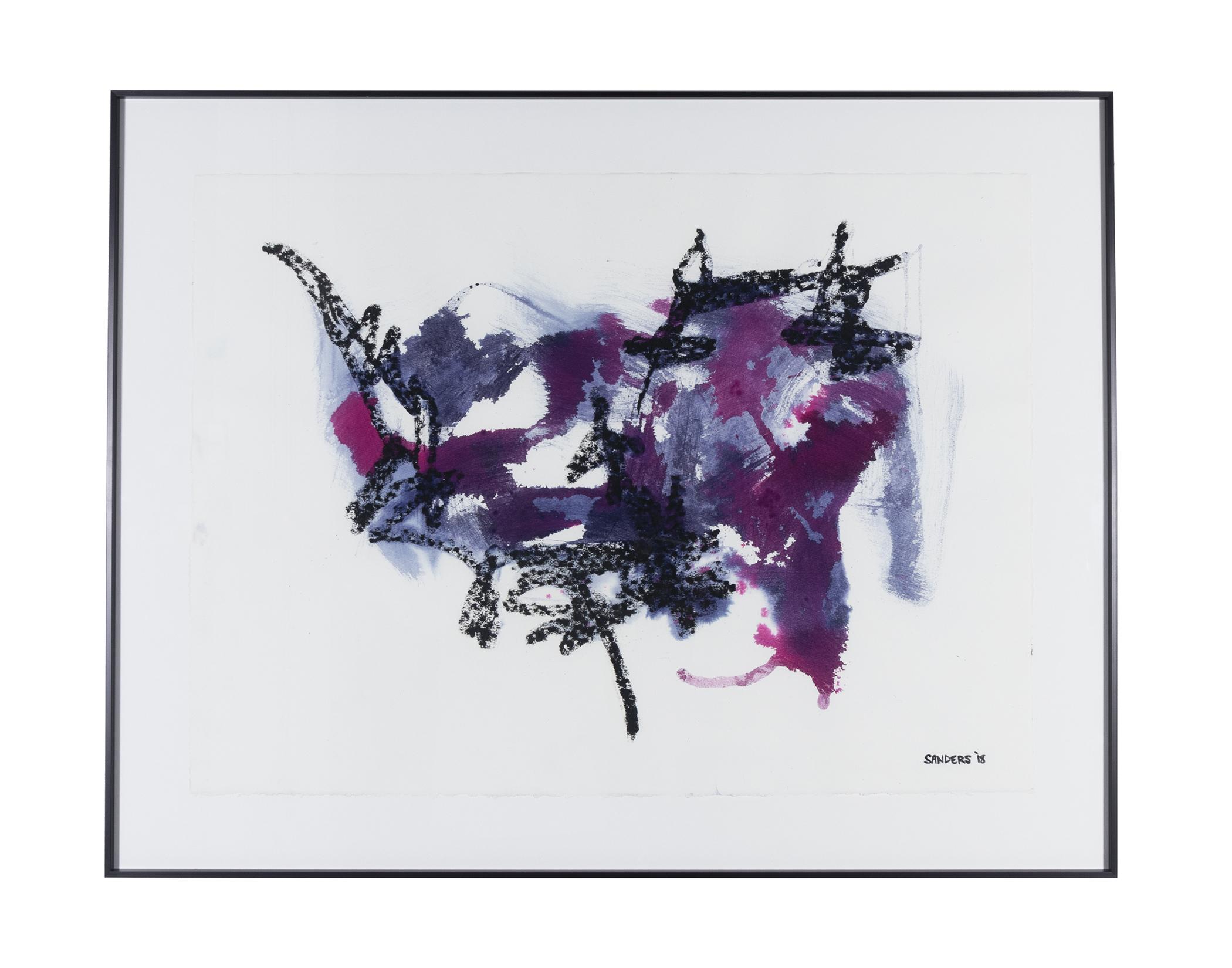 """Frankenthaler Fusion Series - Part 4 (2018) paint stick & dye on paper 26"""" x 38"""""""