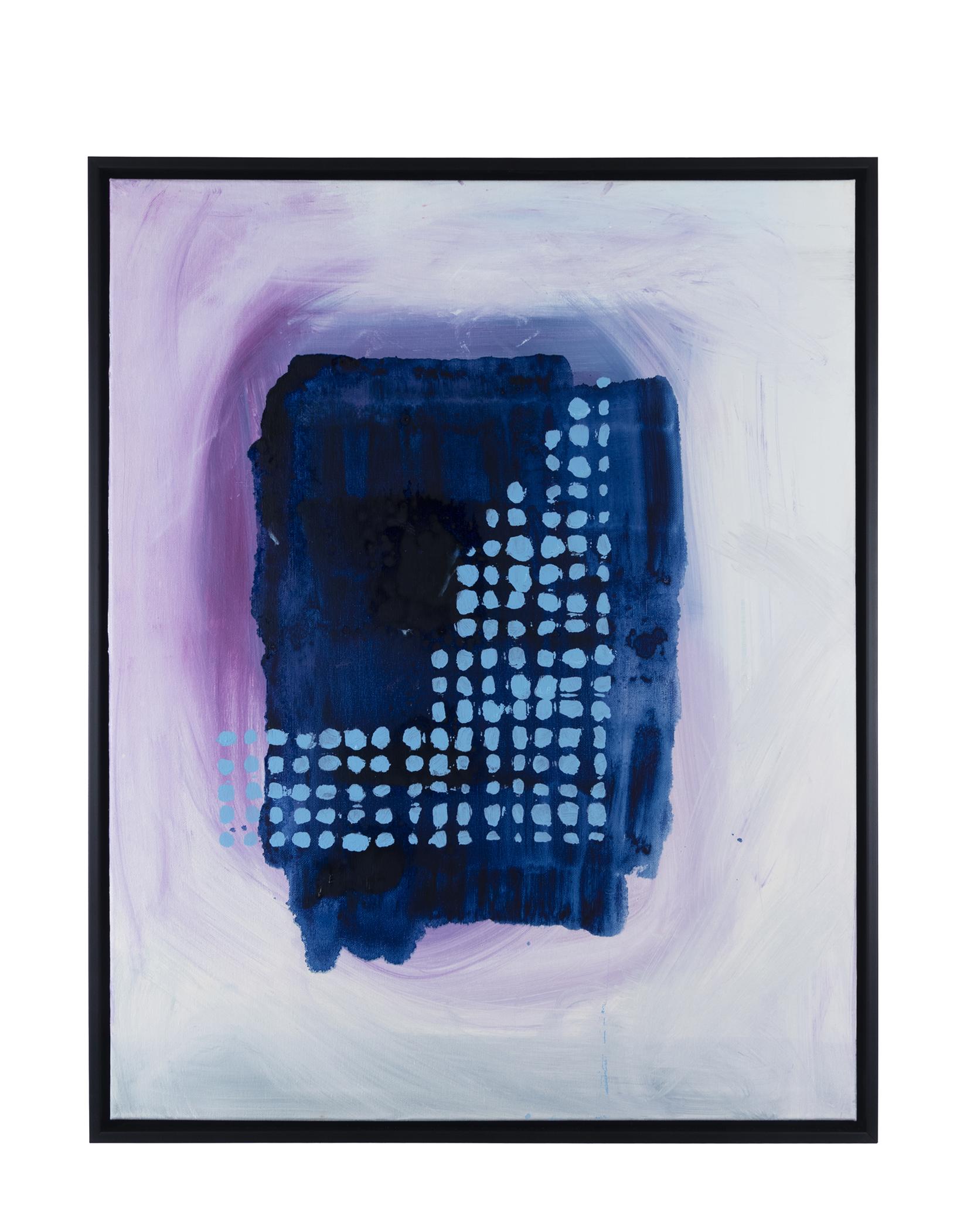 """Smurf Braille (2019) oil on canvas 24"""" x 30"""""""
