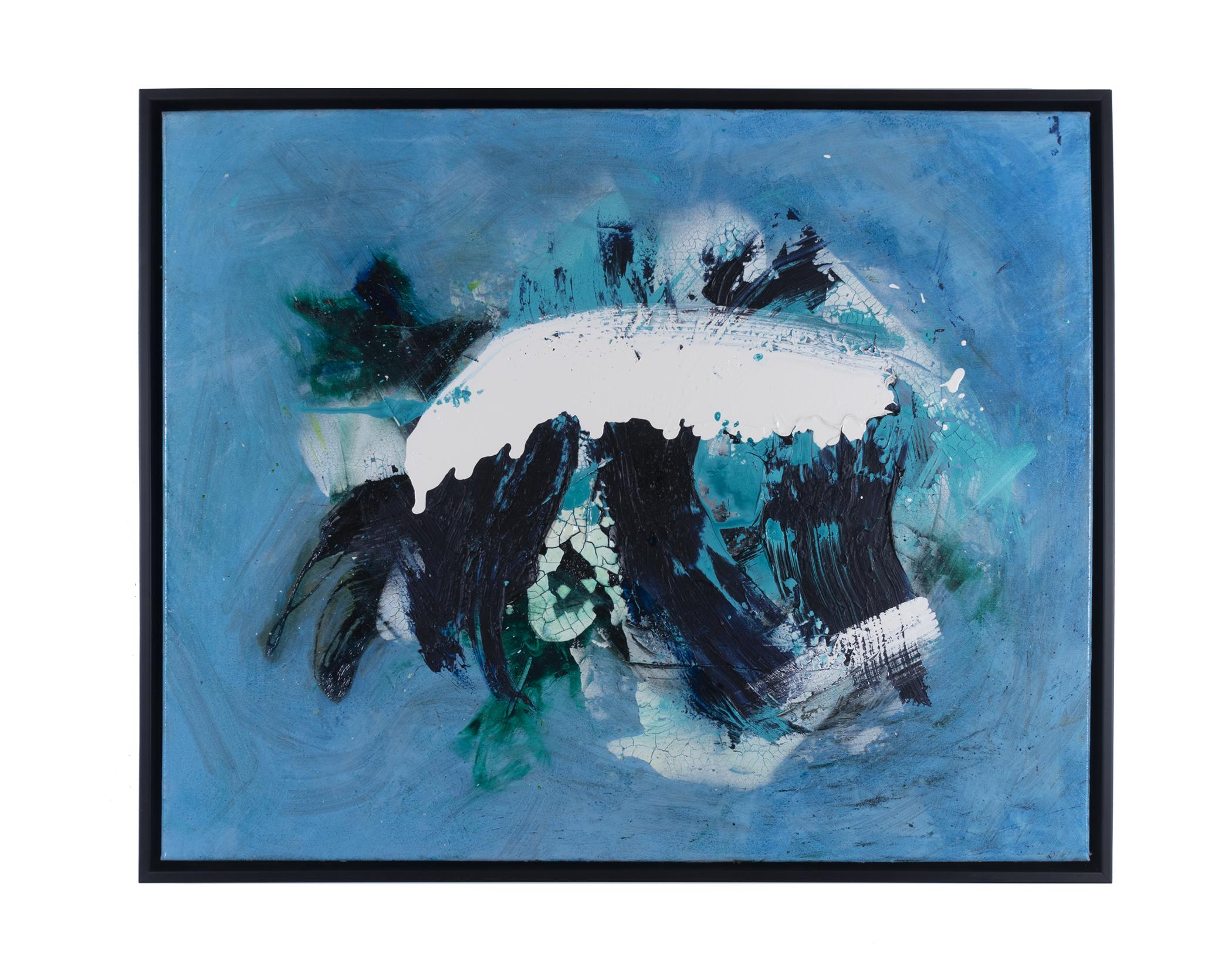 "Dirty Dozen Series No. V (2019) oil & mixed media on canvas 24"" x 30"""