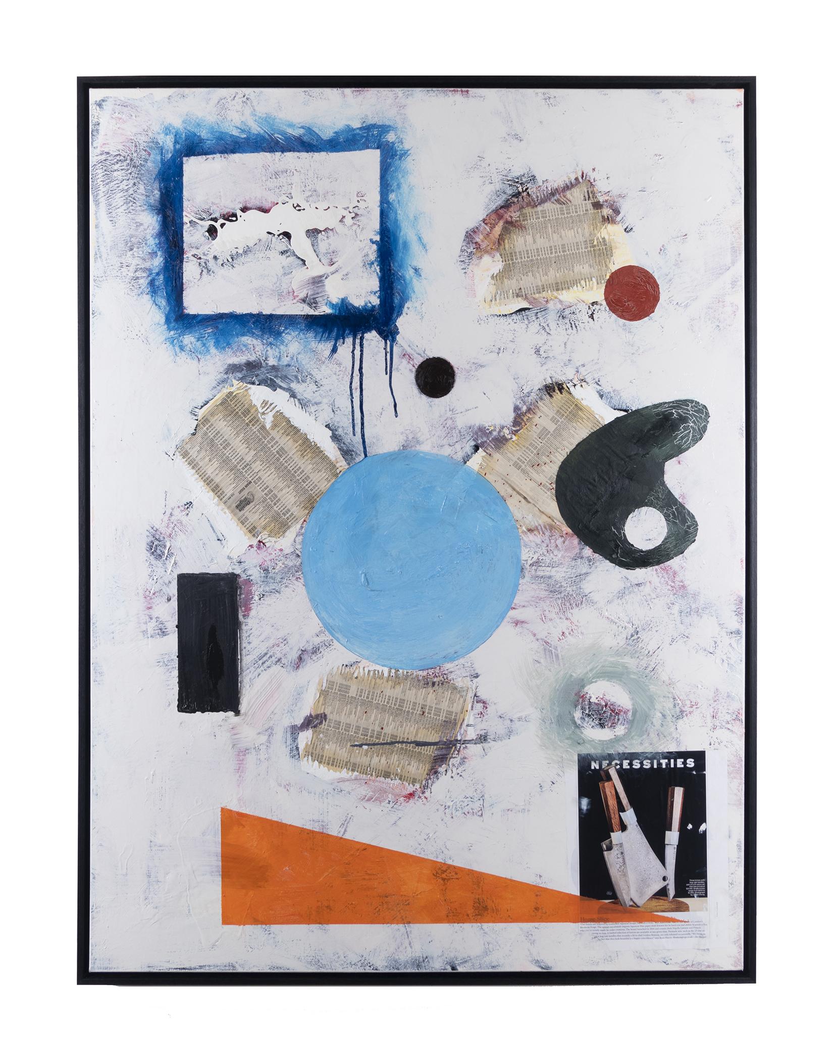 "YUSHEN ZWICKEL REBORN(2019) Oil on Canvas with Mixed Media 36"" x 48"""