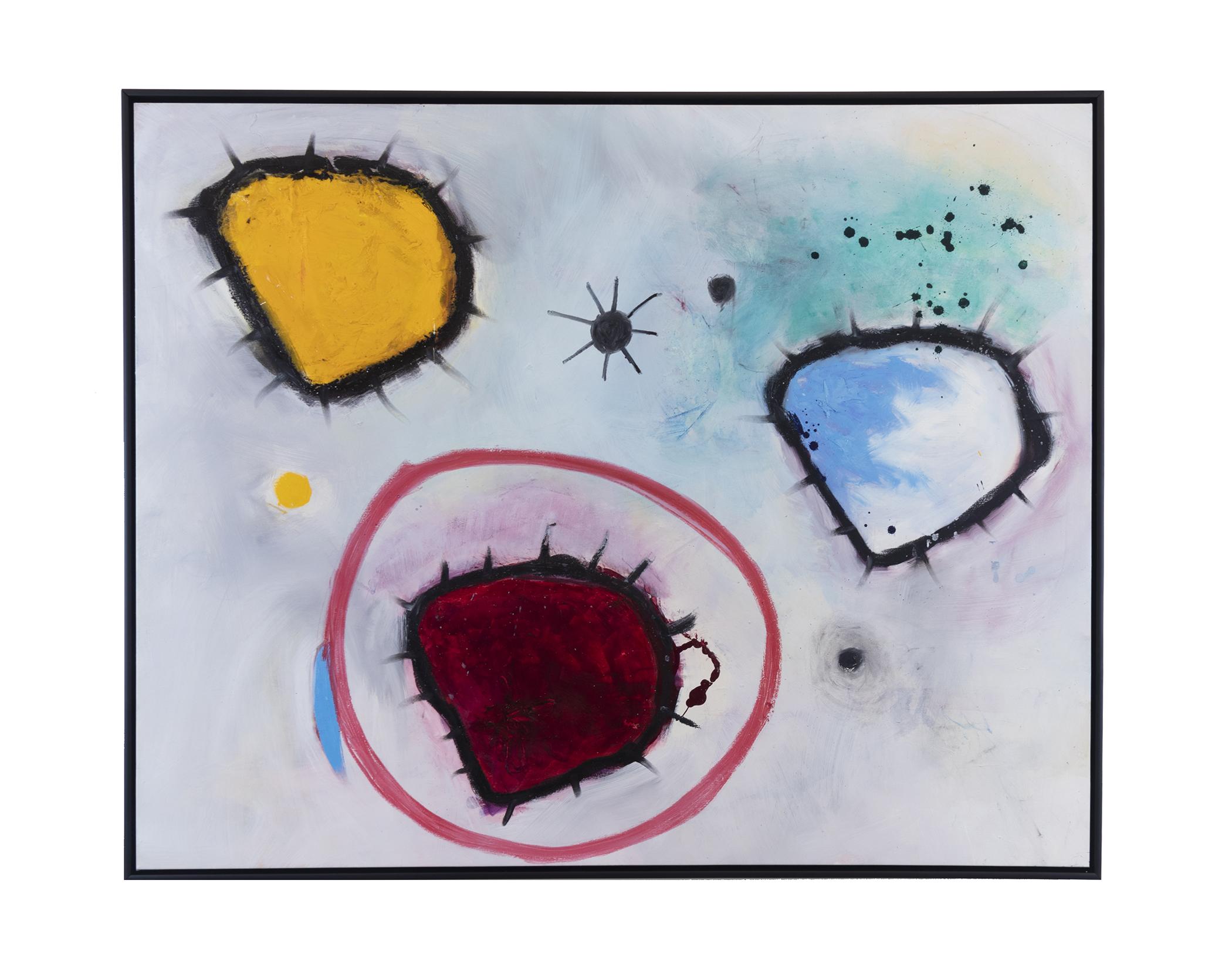 "Amoebic Diversity (2018) oil paint & acrylic on canvas 48"" x 60"""