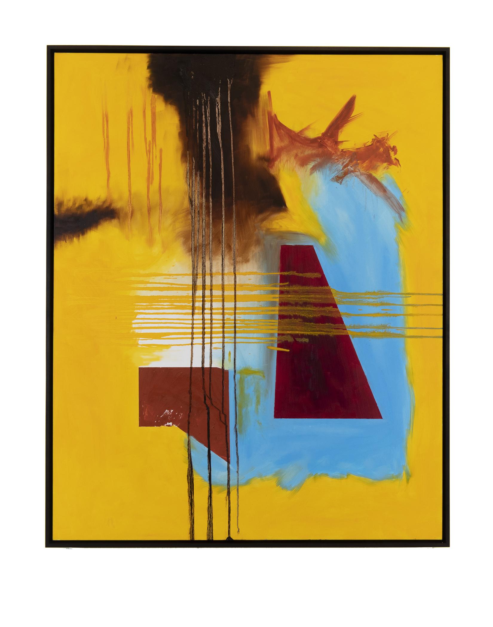 "Trapezoids #2 (2018) Oil on Canvas 48"" x 60"""