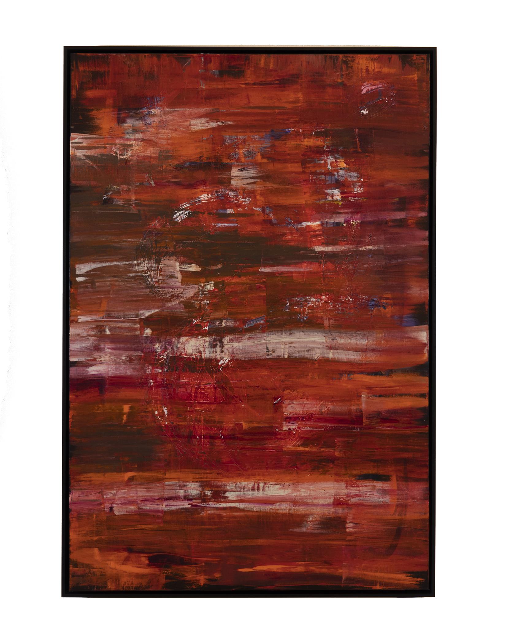 """Lava Flow (2018) oil on canvas 48"""" x 72"""""""
