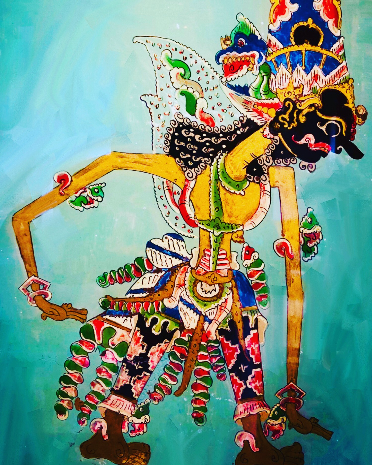 Javanese Dancer (2019) digitally manipulated photo