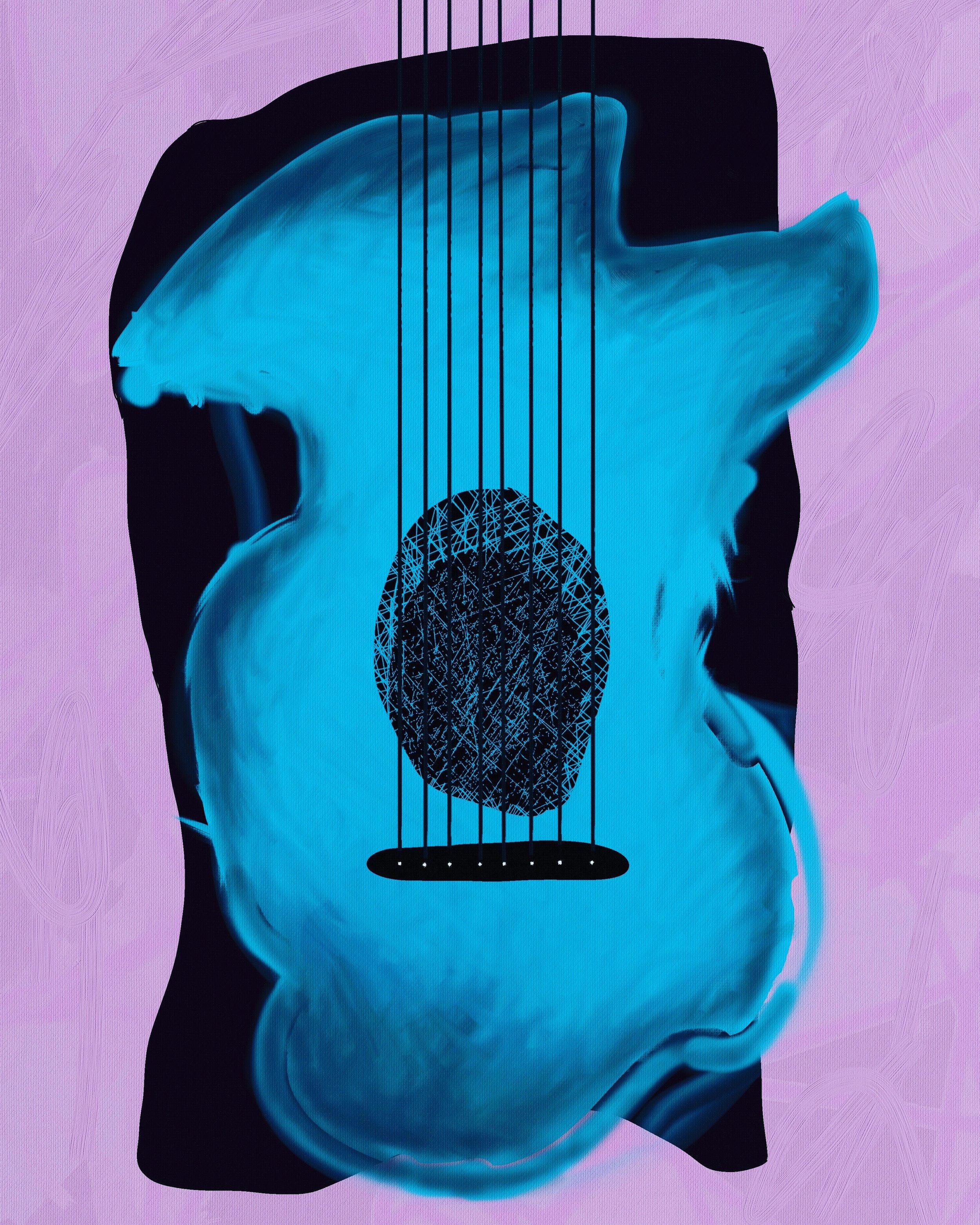 Blue Guitar (2019) iPad creation