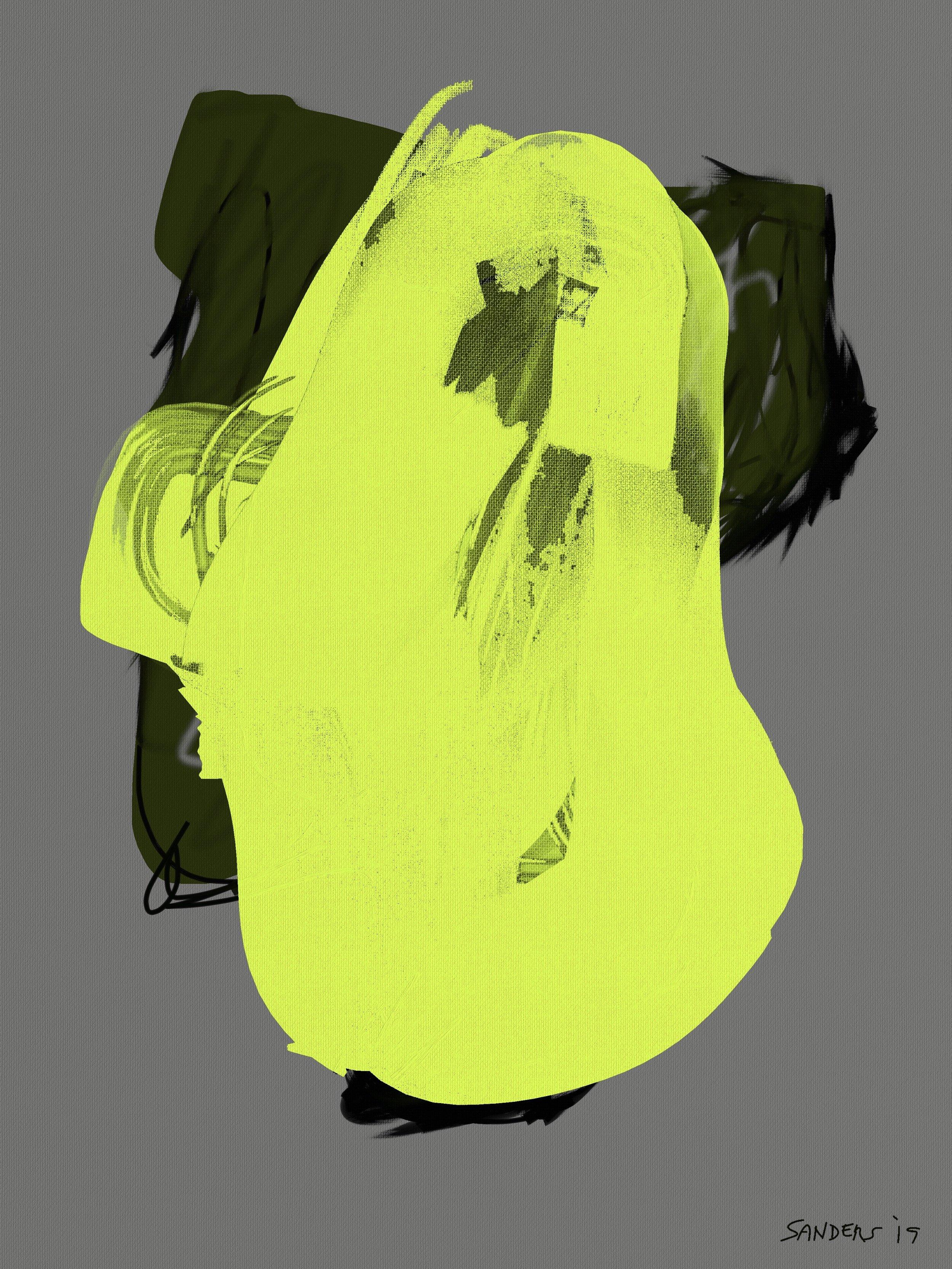 Bright Potato Head (2019) iPad creation