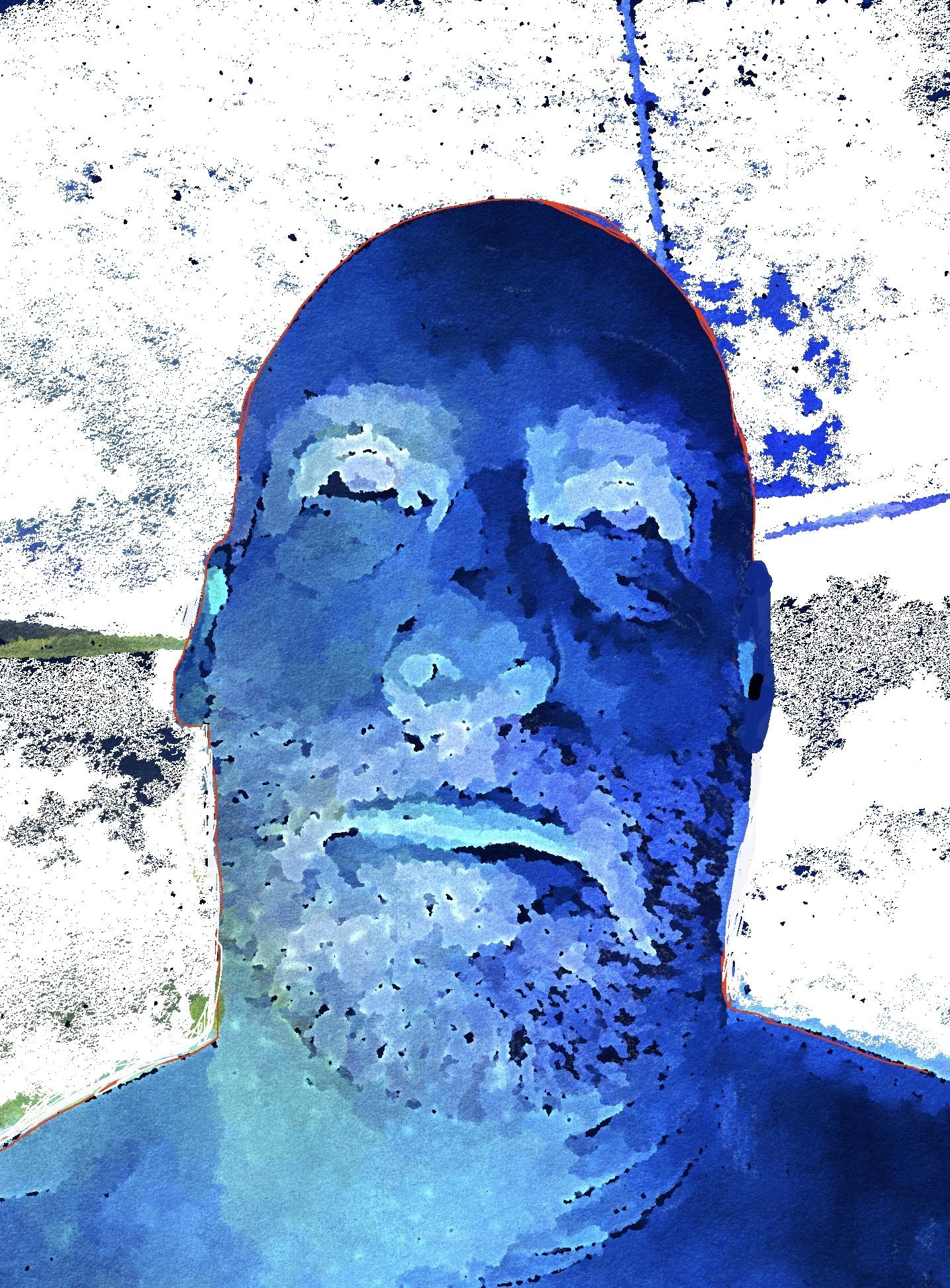 Crossroads Blues Selfie (2019) digitally manipulated photo