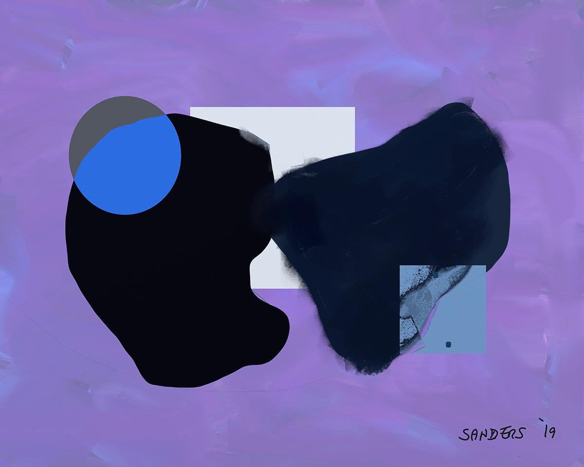 Kiss Ass - Digital Study for Painting (2019) iPad creation