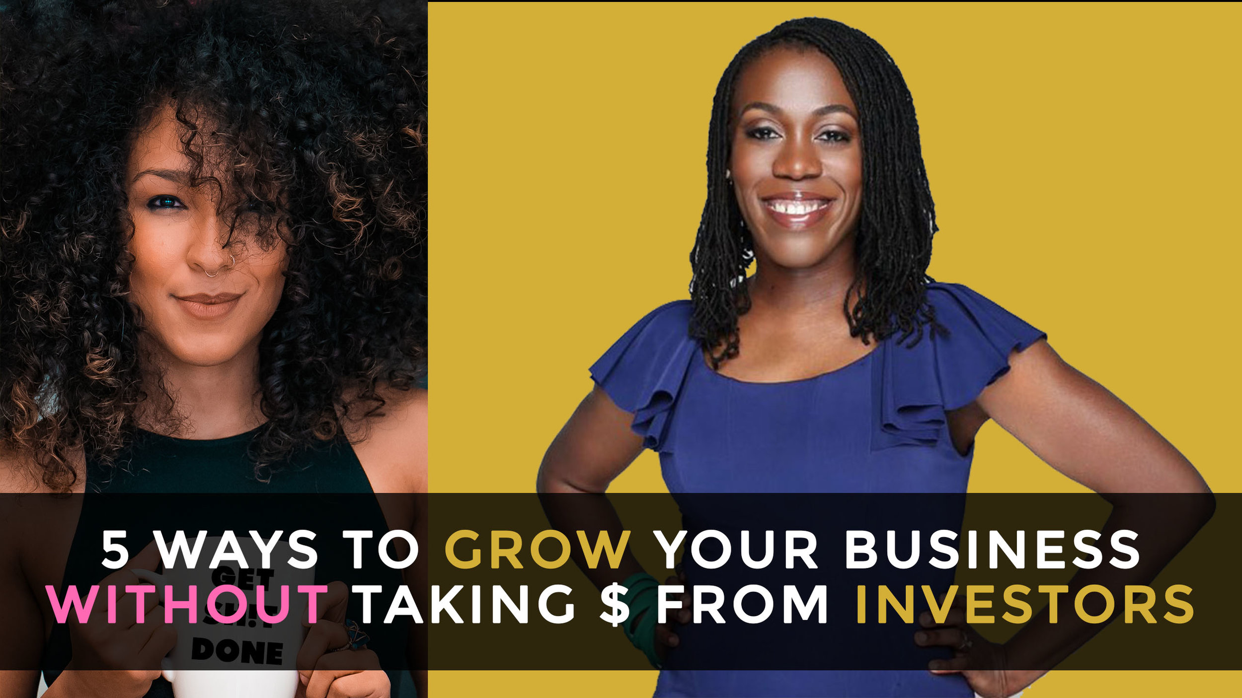 """Today, companies are deemed a """"success"""" and glamorized for taking on capital from investors in order to grow. However, raising money isn't as sexy as you think and it isn't your only option to grow. You'll learn a few ways to grow your business without taking money from investors with Tiffany Aliche aka The Budgetnista.    WATCH NOW  ( Will be available in podcast format soon!)"""