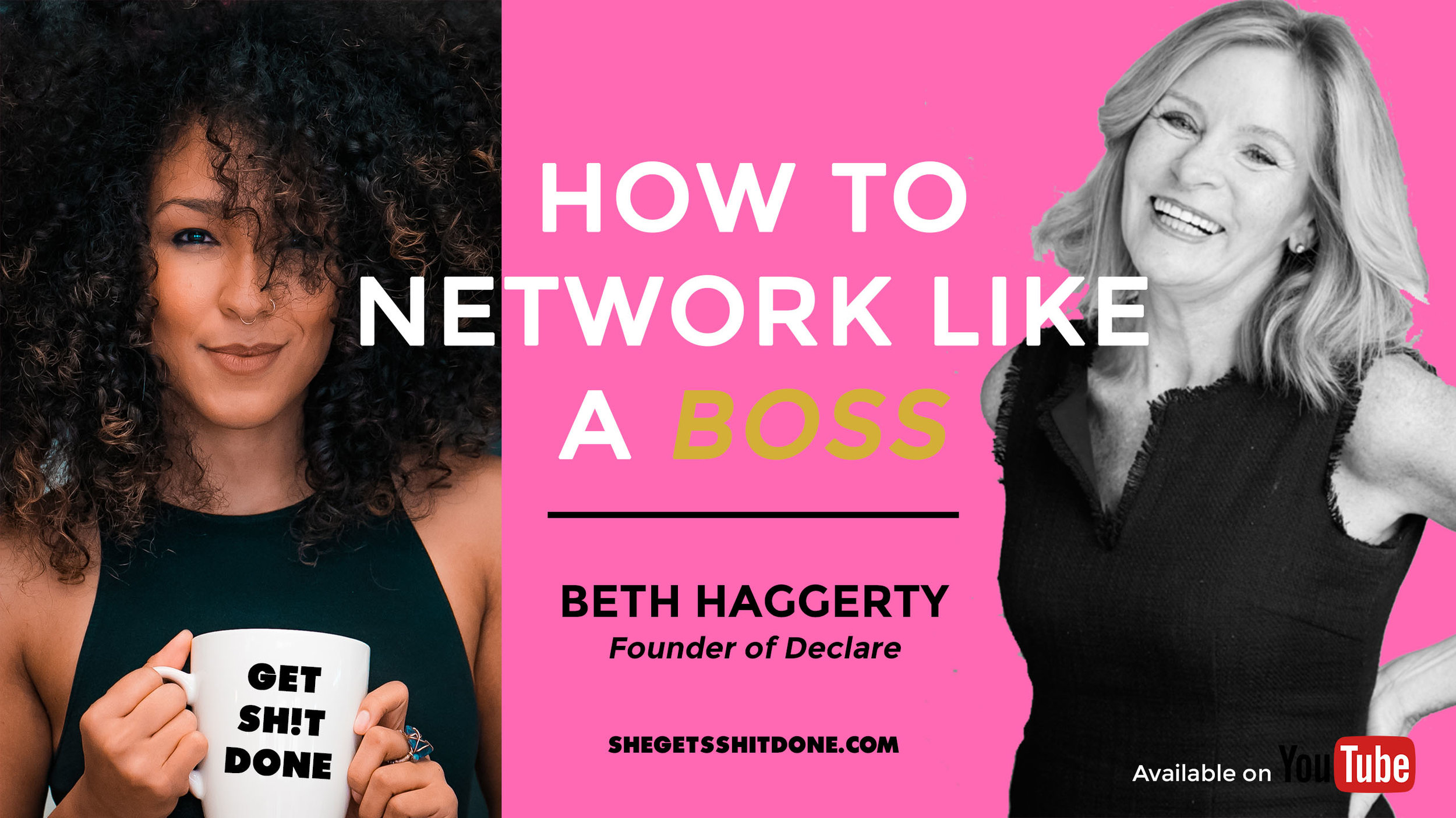 """""""The bigger the network, the more you can get things done."""" I sit down with founder of Declare (formerly Parity Partners) and networking GODDESS, Beth Haggerty, on how she networked her way through serving as Founder, Chief Executive Officer, Chief Operations Officer, and Chief Revenue Officer of companies that were acquired by several of the world's best-known brands, including The Walt Disney Company, AT&T Corporation, and Nielsen.     WATCH NOW  ( Will be available in podcast format soon!)"""