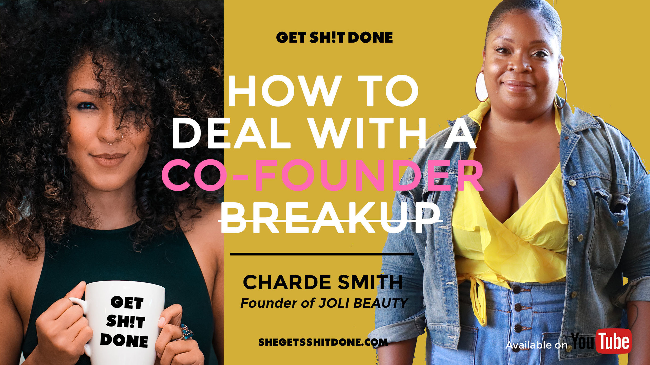Business just being business is bullshit. Building a company is personal. This is why co-founder breakups can be just as gut-wrenching as romantic breakups. You see your co-founders more than you see significant others, family, and friends. If you're a founder that has gone through a breakup, a founder going through a breakup, or you're considering a co-founder, tune in. I sat down with the incredibly brave founder of Joli Beauty, Charde Smith, who was vulnerable enough to welcome me into her space and share her truth around how she dealt with her co-founder breakup.   WATCH NOW  ( Will be available in podcast format soon!)