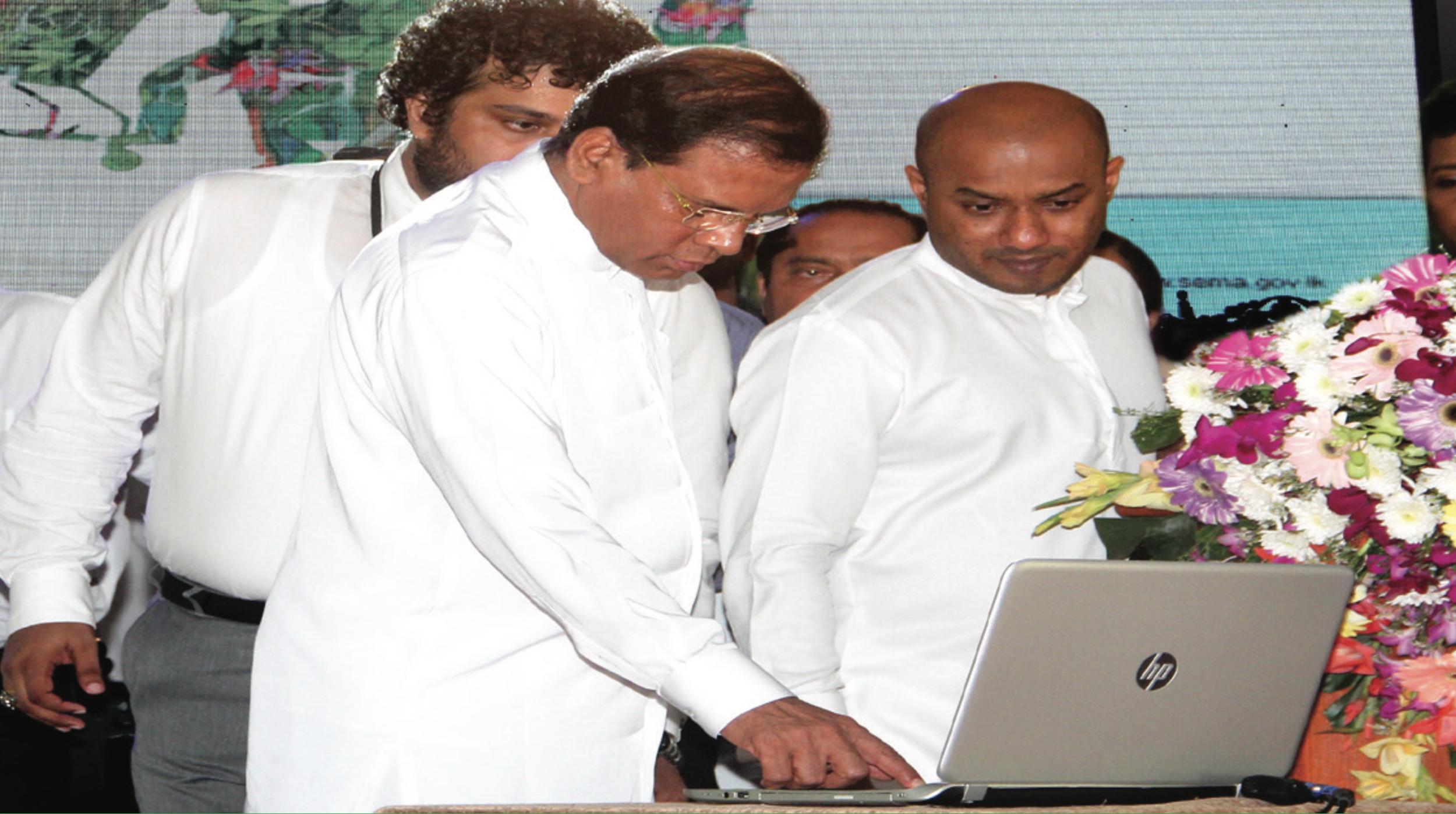 His Excellency The President of Sri Lanka Maithripala Sirisena Launching Astrocrop in Sri Lanka