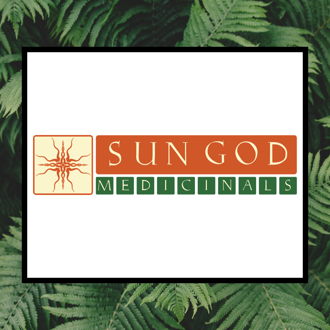 Leaf level - Sun God Medicinals is located in beautiful Southern Oregon. They are a bioregional herbal company dedicated to using only ingredients that are high quality, ethically-sourced, certified organic, and wildcrafted ingredients that thrive in their area. They are certified organic by Oregon Tilth.