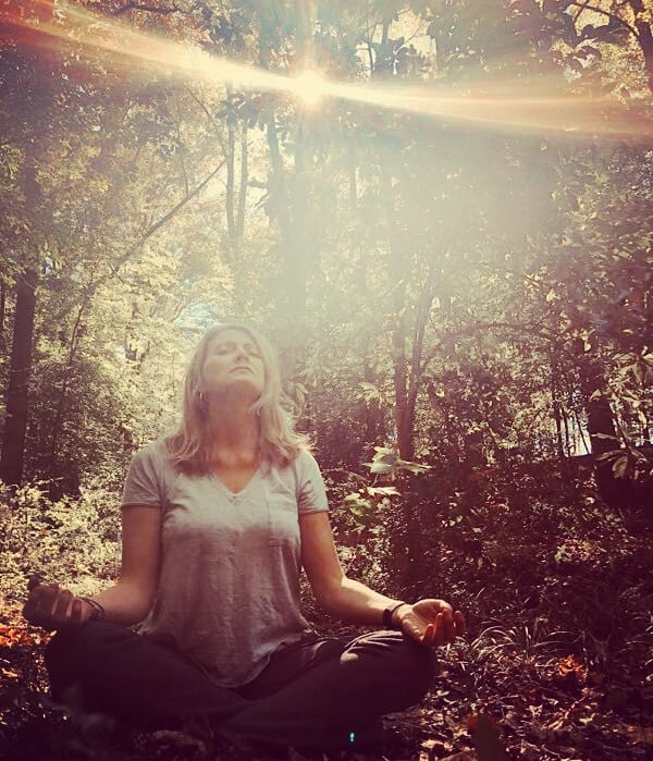 """People often say that motivation doesn't last.  Well,  neither does bathing - that's why we recommend it daily. "" - Zig Ziglar Like bathing,  meditation is best done daily.  Unlike bathing,  the results are cumulative 😄. Today's meditation model is Maya @memeeks. Isn't her aura glorious? #forestbathing #feedyoursoul #aura #motivationalquotes #mindfulliving"