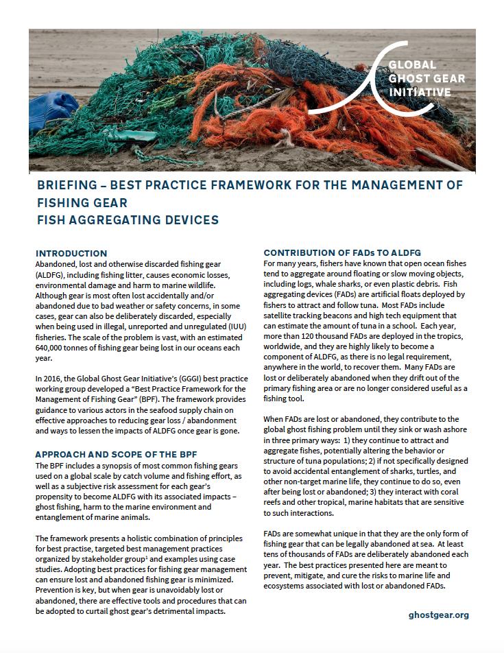 Best Practice Framework FADs