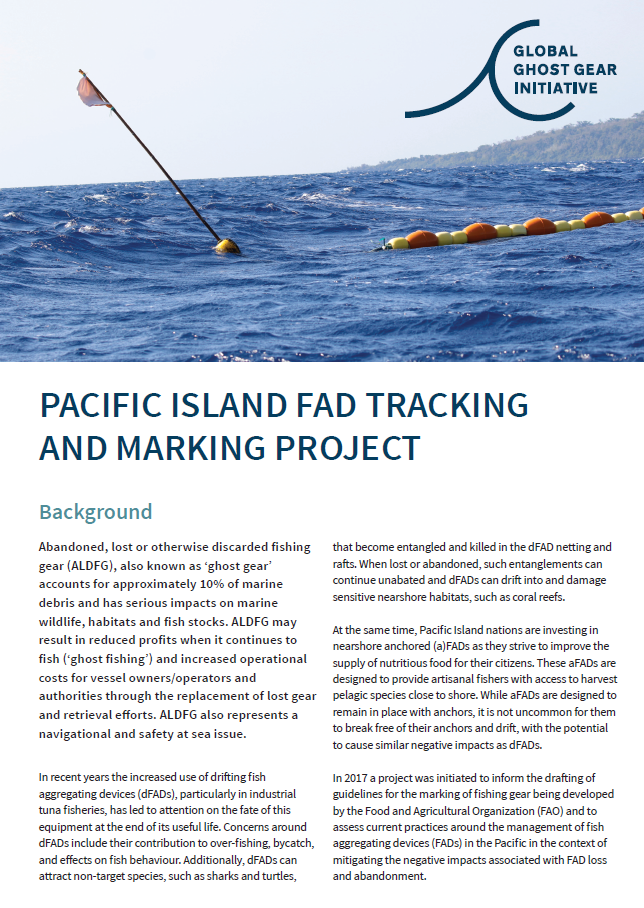 Pacific Island FAD Project Summary