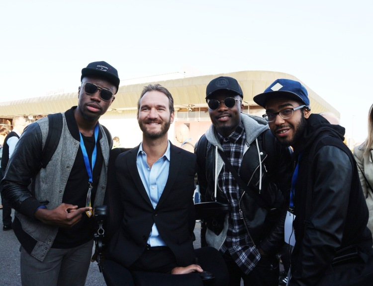 Faith Child and the band with Nick Vujicic