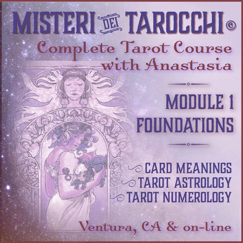 Misteri dei Tarocchi complete tarot course - The cards - Ventura & on-line tarot classes