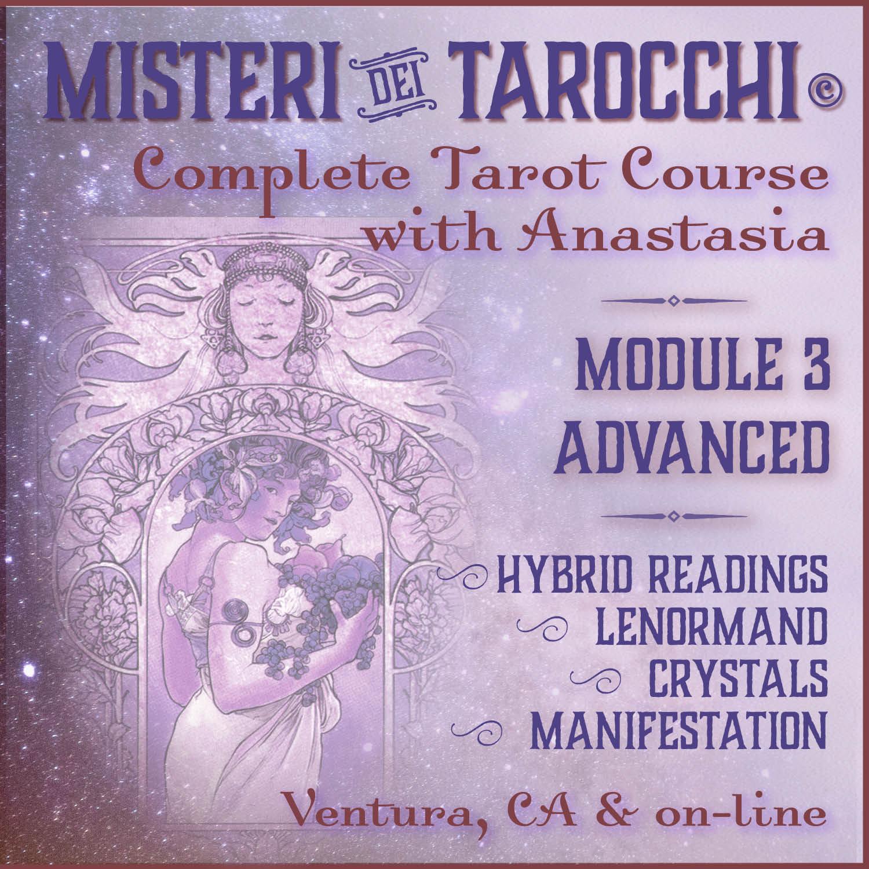 Misteri dei Tarocchi complete tarot course - advanced - Ventura & on-line tarot classes