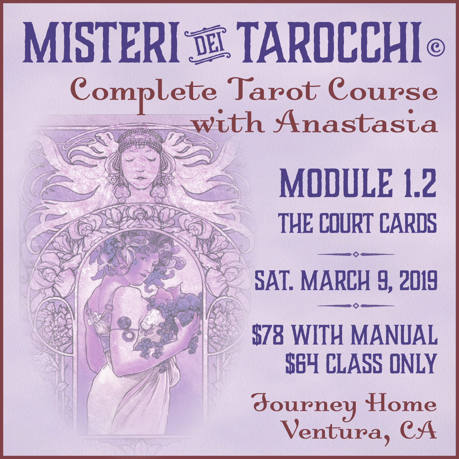 Tarot Classes with Anastasia  Purchase a class