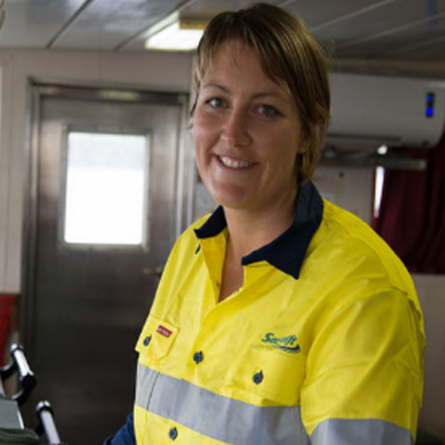 Courtney Jean Hansen - MV Malu Chief | SeaSwift Line. AustraliaCourtney was born in 1988 in central Queensland Australia and was a water lover from a young age. Her passion for the ocean has taken her around the world in a variety of different capacities from research assistant to Dive Instructor to Vessel Master. In 2014 at age 26 Courtney became the first female Captain for Australia's largest privately- owned shipping company and in 2015 went on to win the Llyods List, Young Mariner of the Year award for Australia. Courtney is also involved with training in the Maritime Industry. She has recently been on a salvage operation with the Black Pearl farmers of Manahiki, Cook Islands. She and her partner, employed by the same company, have become proficient at juggling time off to be with each other.