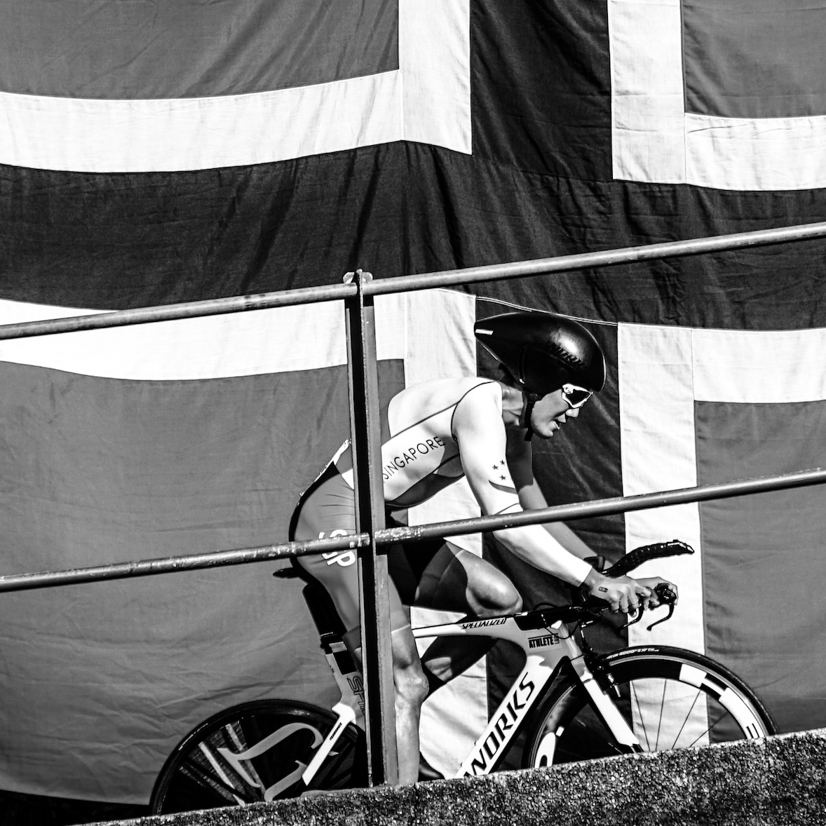 Yi-Peng riding in the UCI World Championships - Bergen, Norway in 2017