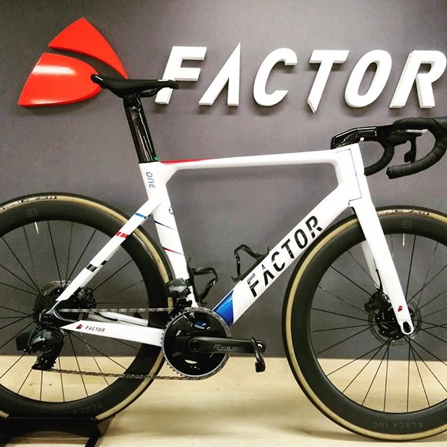 All about the aero advantage, the first of the team Aero bikes rolls out of the workshop at @factorbikesaustralia. #factorbikes