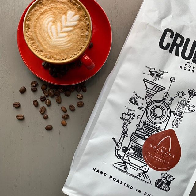 A massive thank you to Tim and Peter from @crudecoffeeroasters for spending the time with our staff today.  We covered everything from coffee harvesting to roasting and how we can extract the best flavour for our Brewers Blend! Make sure you ask one of our staff for a coffee next time you are in it's pretty special if we do say so ourselves. Or alternatively why not ask Tom for one of his excellent cold brew espresso martinis! The perfect pre dinner drink!  #local #coffee #passion #burystedmunds #suffolk #oneteamonedream #honduras #brazil #qualityproducts