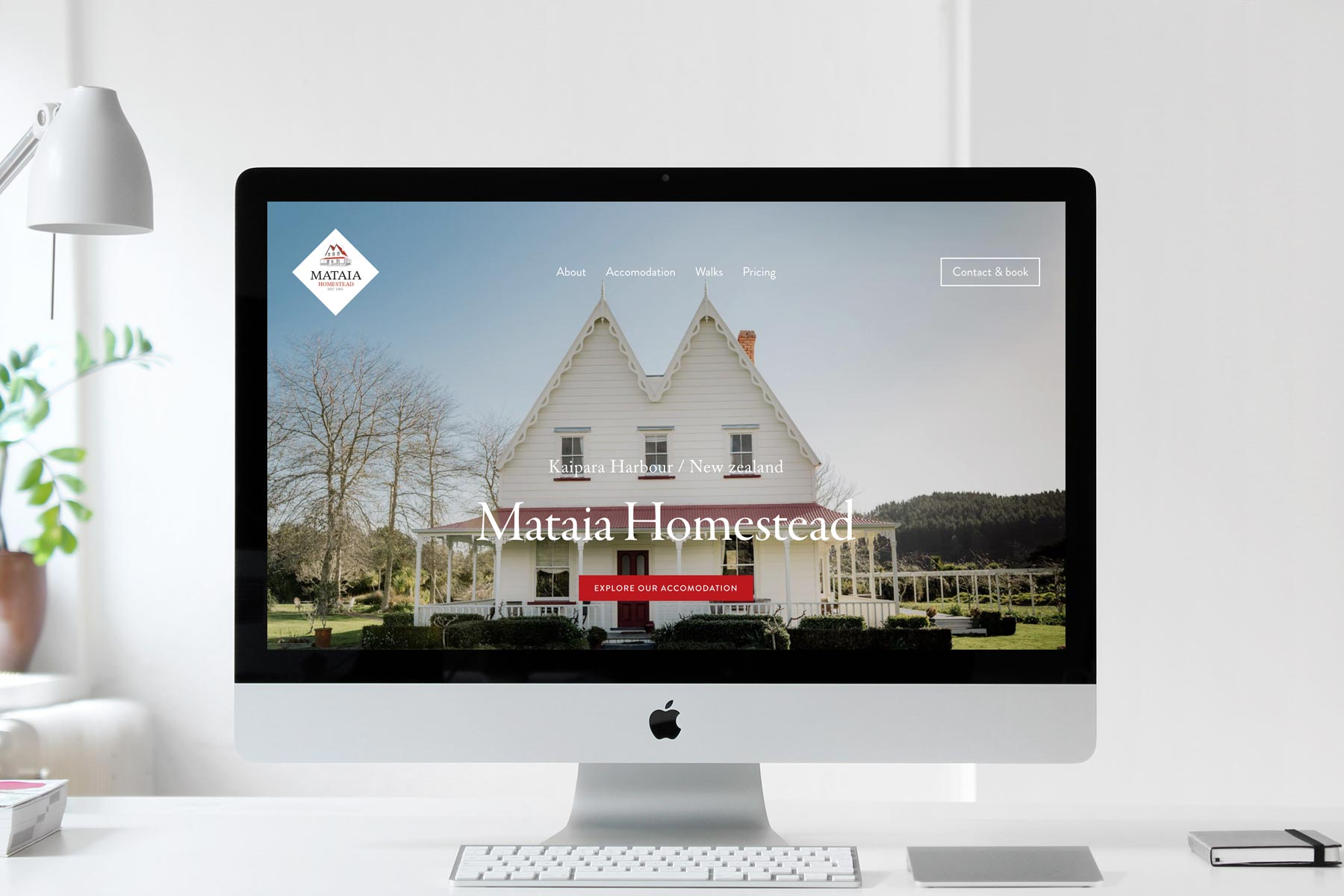 Mataia Homestead   Website design / Rev-it-up Package