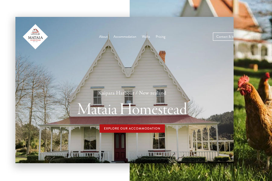 Mataia Homestead - A new website to help this boutique accommodation venue increase online bookings by 90%.View project
