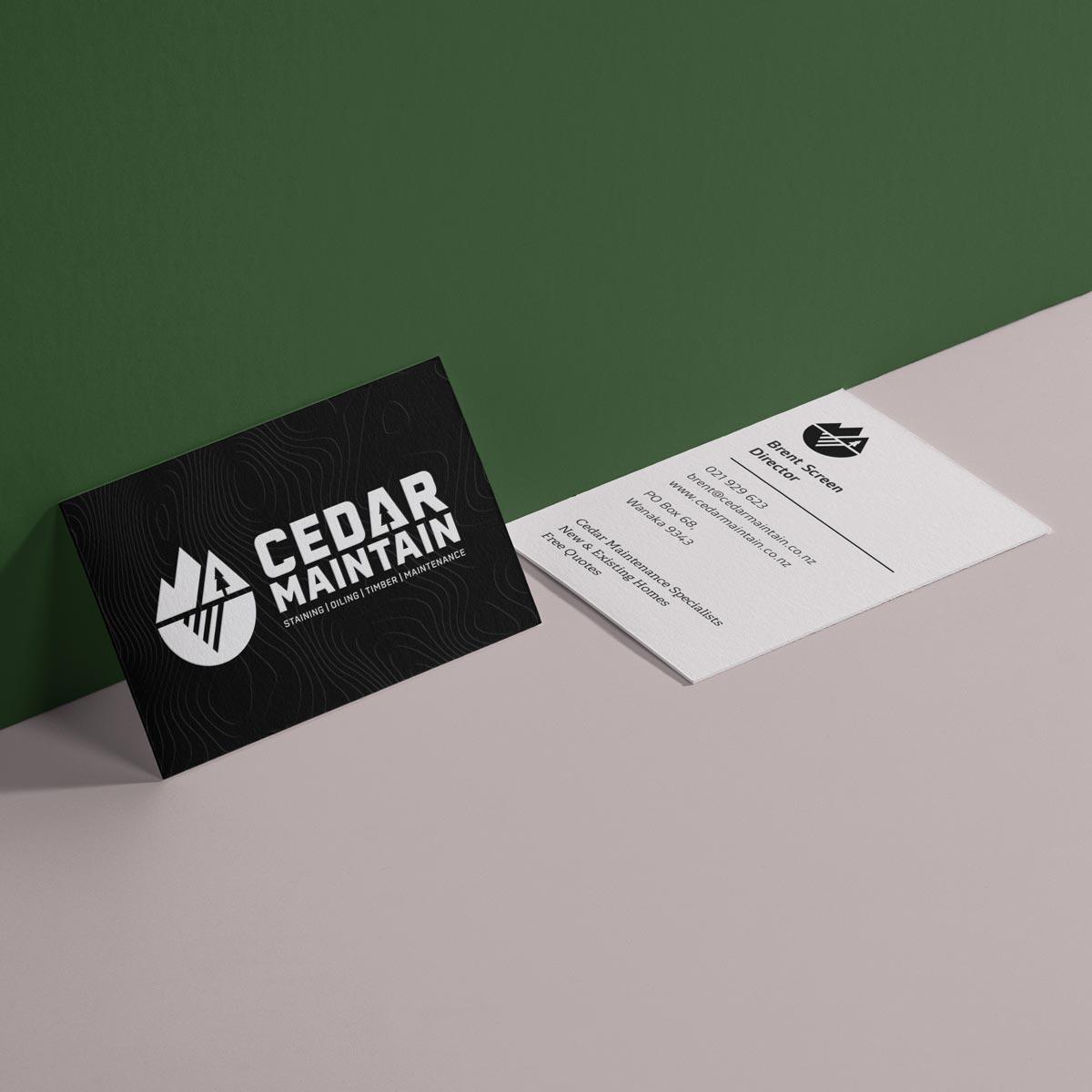 Cedar Maintain   Brand design / Micro site