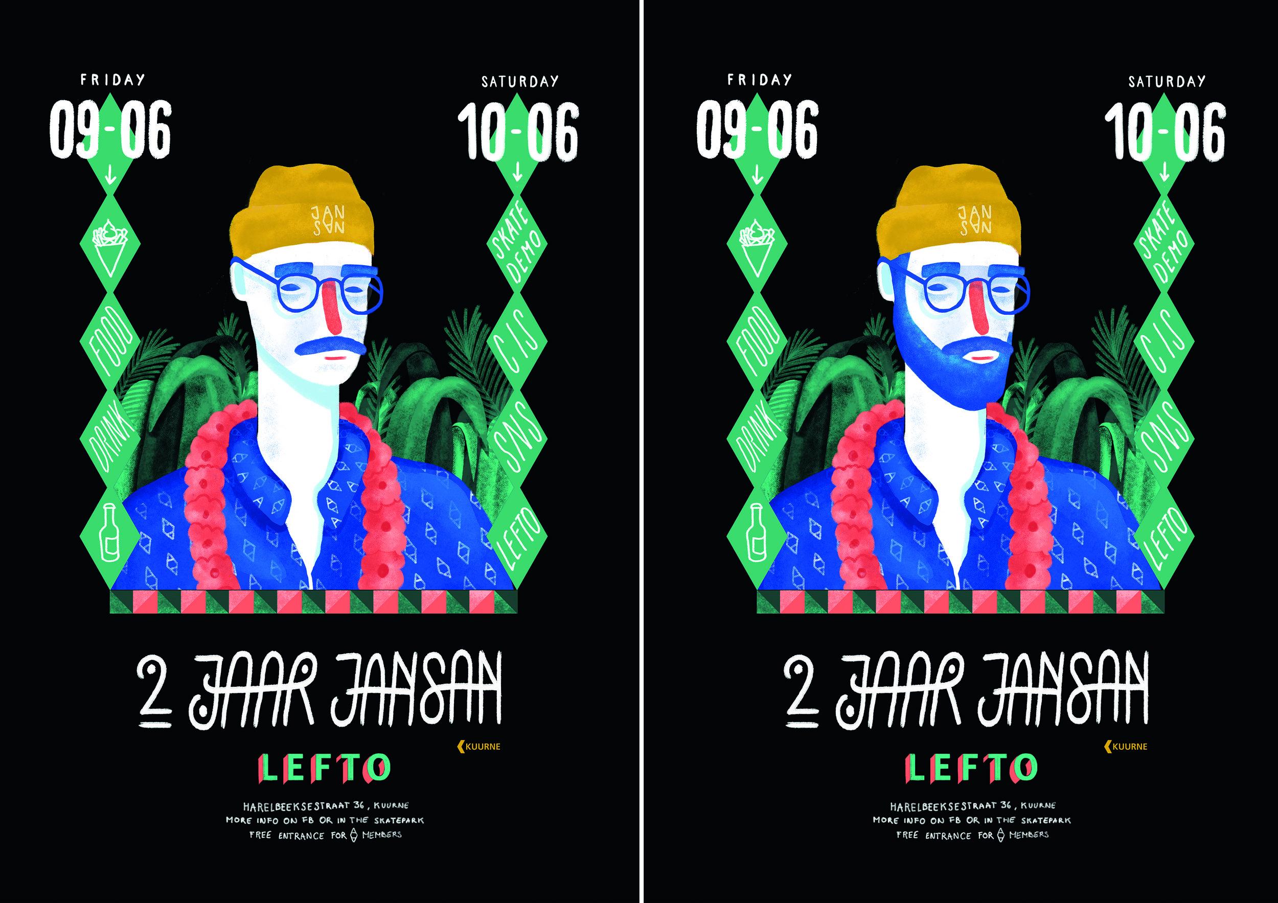 2 jaar jansan | Affiche A3 met baard en snor.jpg