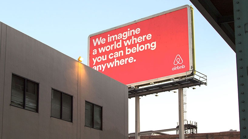 airbnb - belong anywhere billboard