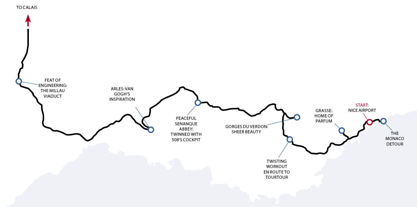 Our route: from Monte Carlo across Provence and back to the UK
