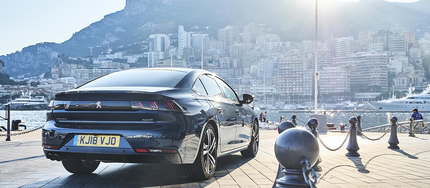 The 508 blags its way onto Monaco's quayside
