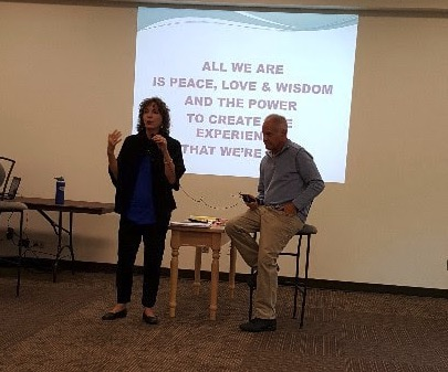 Presenting to a group of teachers and social service providers in Des Moines, Iowa, August 2017 with  Dr. Jack Pransky