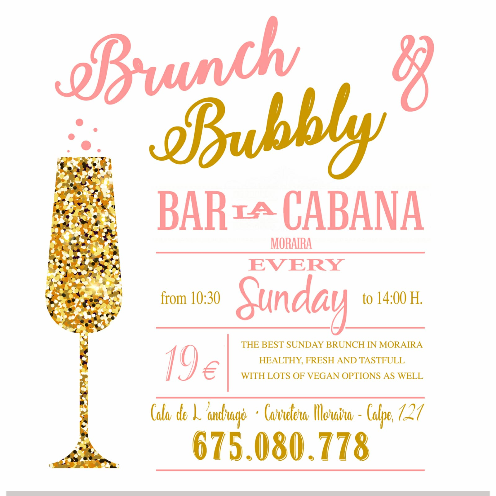 Come and enjoy our Sunday Brunch Buffet. - The best in Moraira