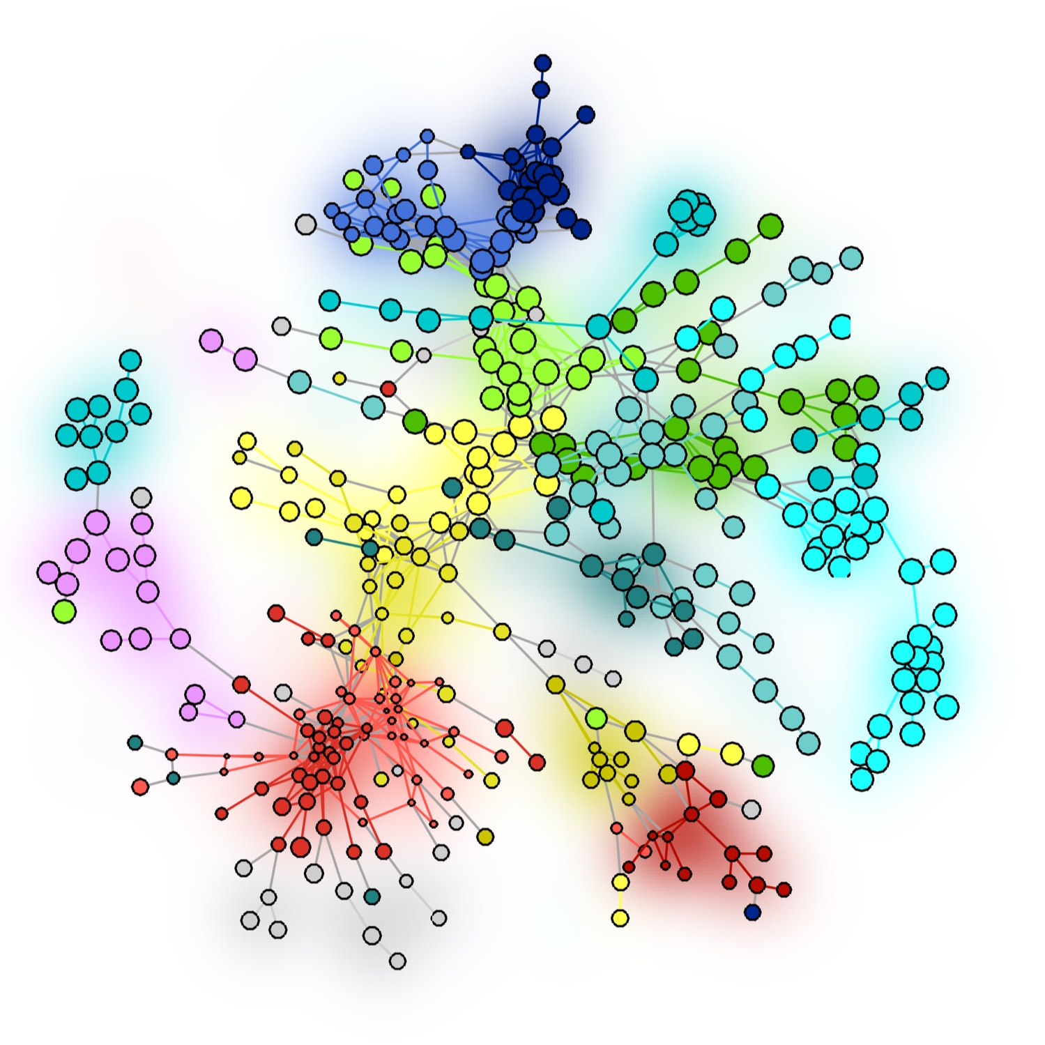 Matlab code for generating visually appealing force-directed (and community-labeled) networks. [ Link to code ]
