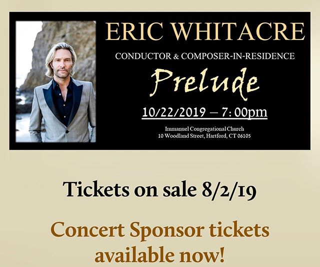 We're thrilled to welcome @ericwhitacre as Conductor and Composer-in-Residence to kick off next season. Tickets for concert sponsors are now on sale. Stay tuned for the public on sale in August! https://www.voceinc.org/tickets 🎶🥰🎶