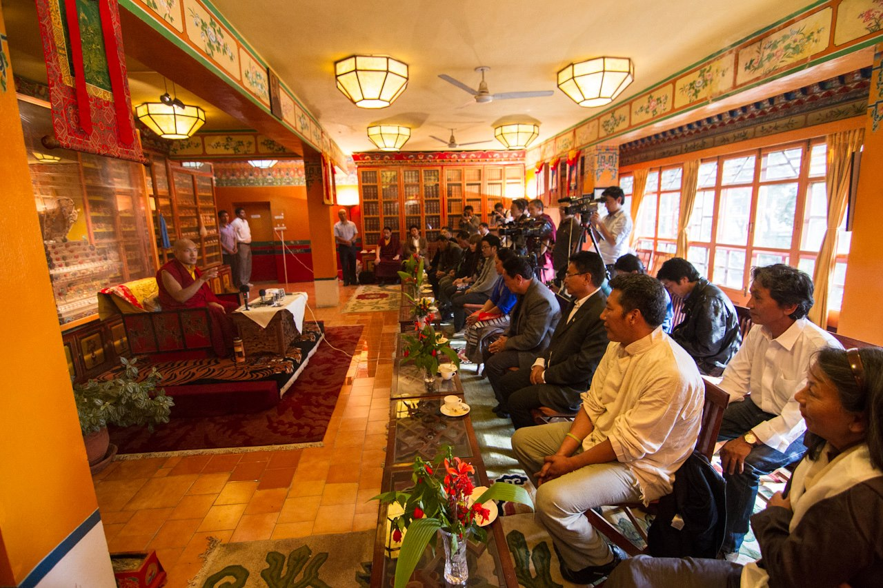 Audience with H.E. 17th Karmapa during 2012 Fundraiser meeting