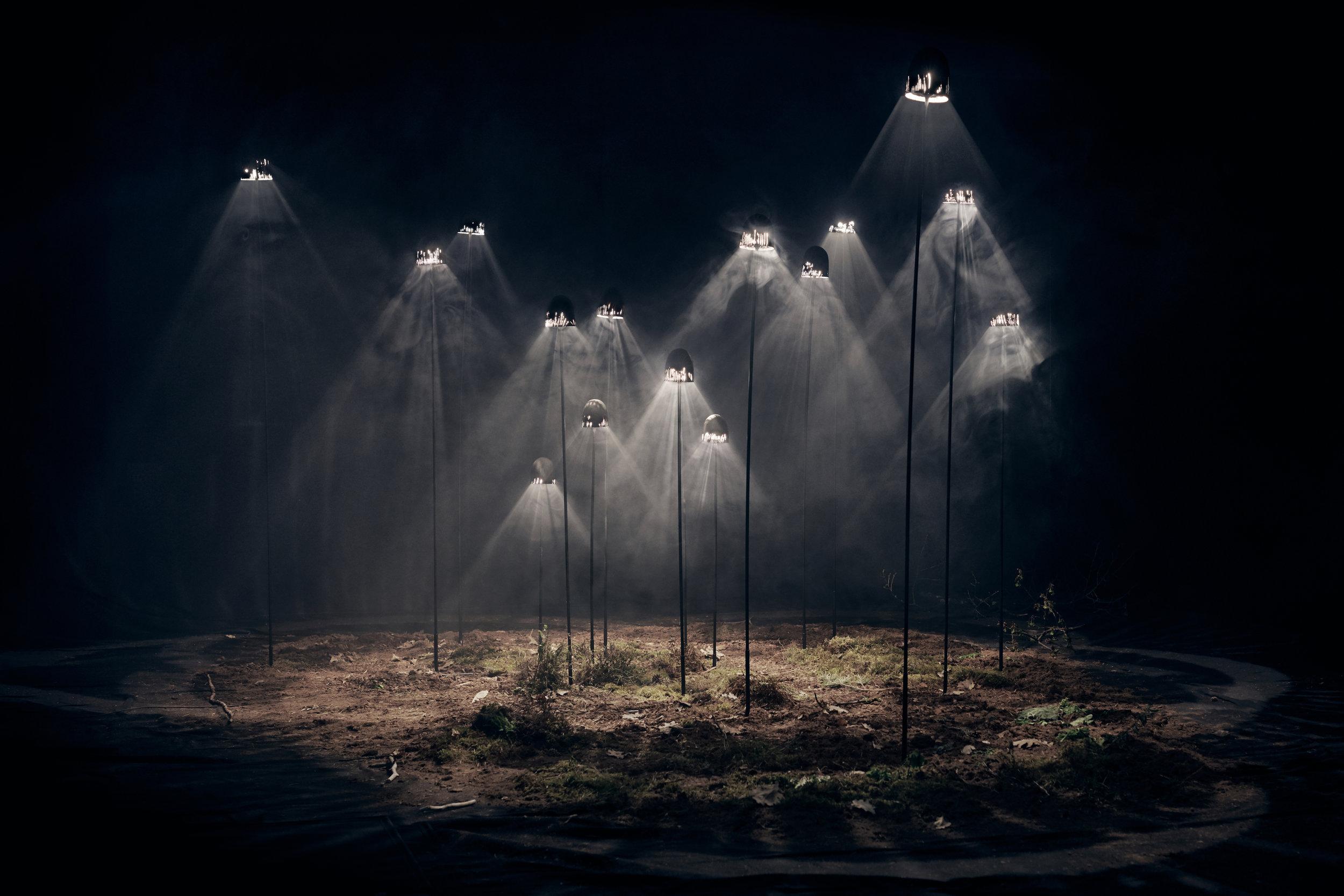 CHART CURIO.  SEITIKKI light installation , 2019, Antrei Hartikainen. Billede: Ville Vappula.