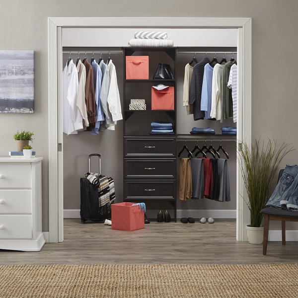 """- Let us restructure your old """"pole-and-shelf"""" closets into efficient storage areas with less clutter; you'll see more of your belongings and make use of the areas near the ceiling, floor, and corners."""