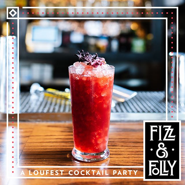 All weekend! Preview the #fizzandfolly cocktails that @smallchangestl will be serving up @loufest this year. They open up at 4pm! 📸 @whiskeyandsoba