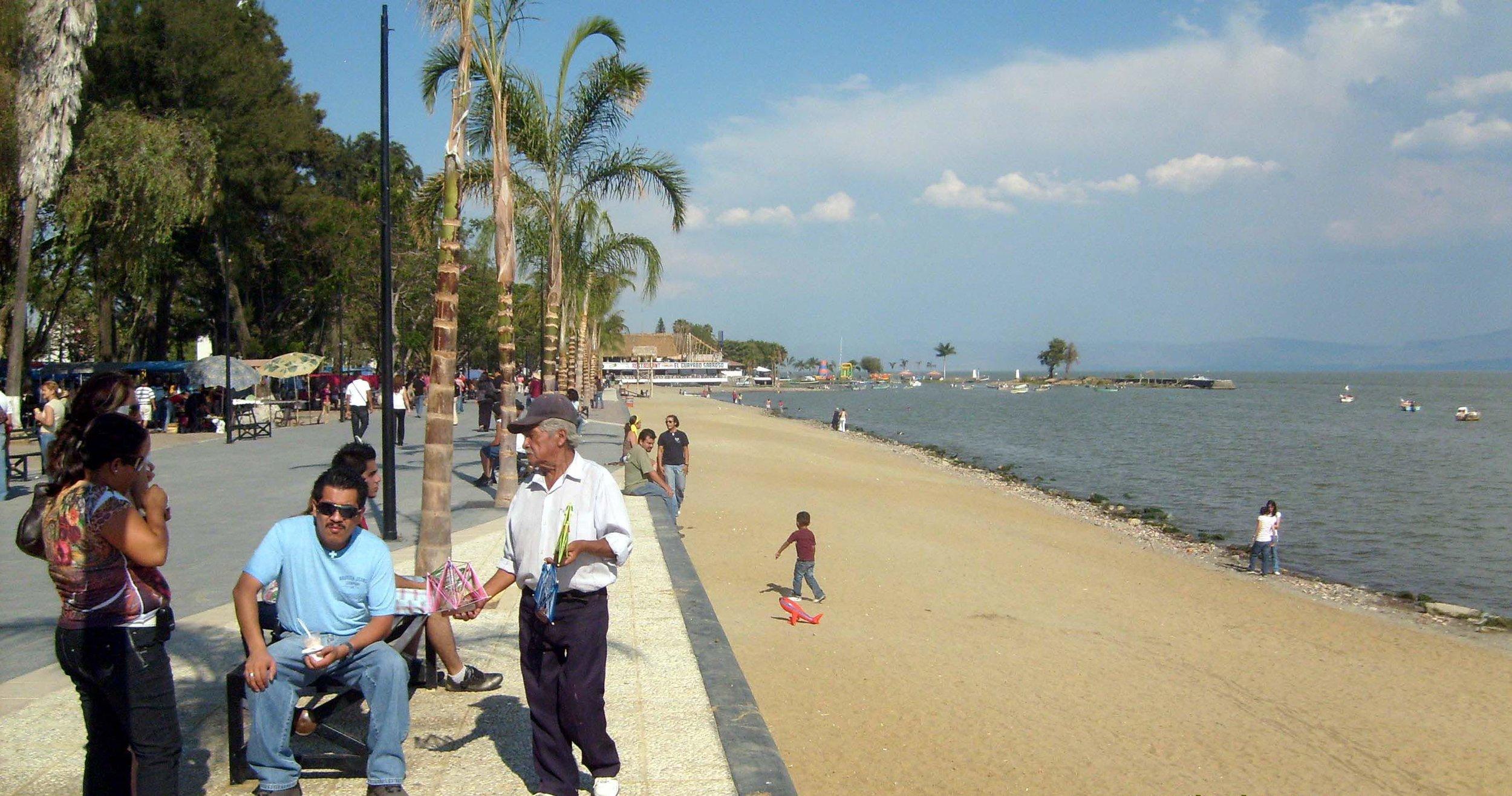 Lakeside promenade and beach — the Ajijic boardwalk has something for everyone