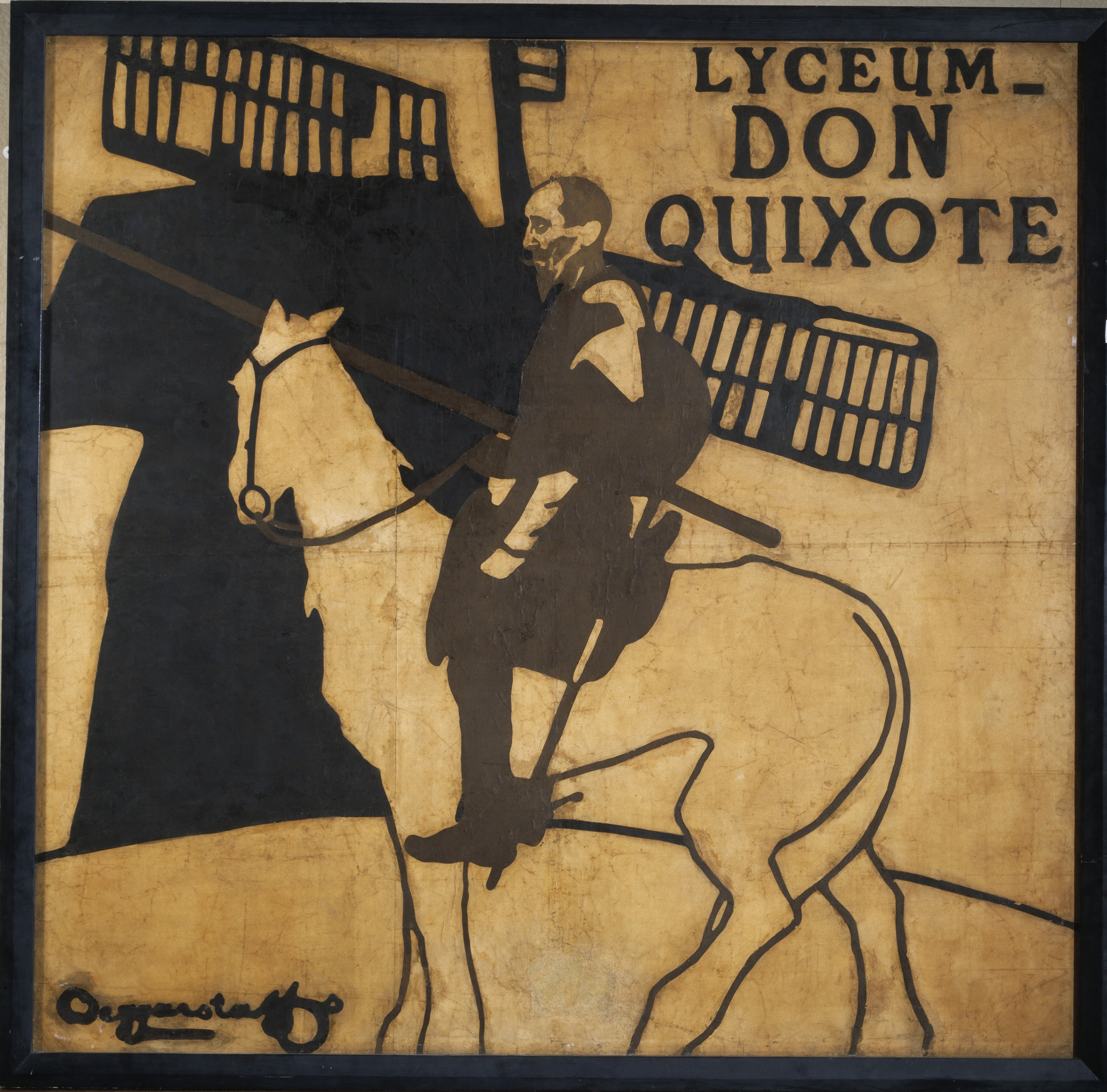 A Poster for Don Quixote the production.
