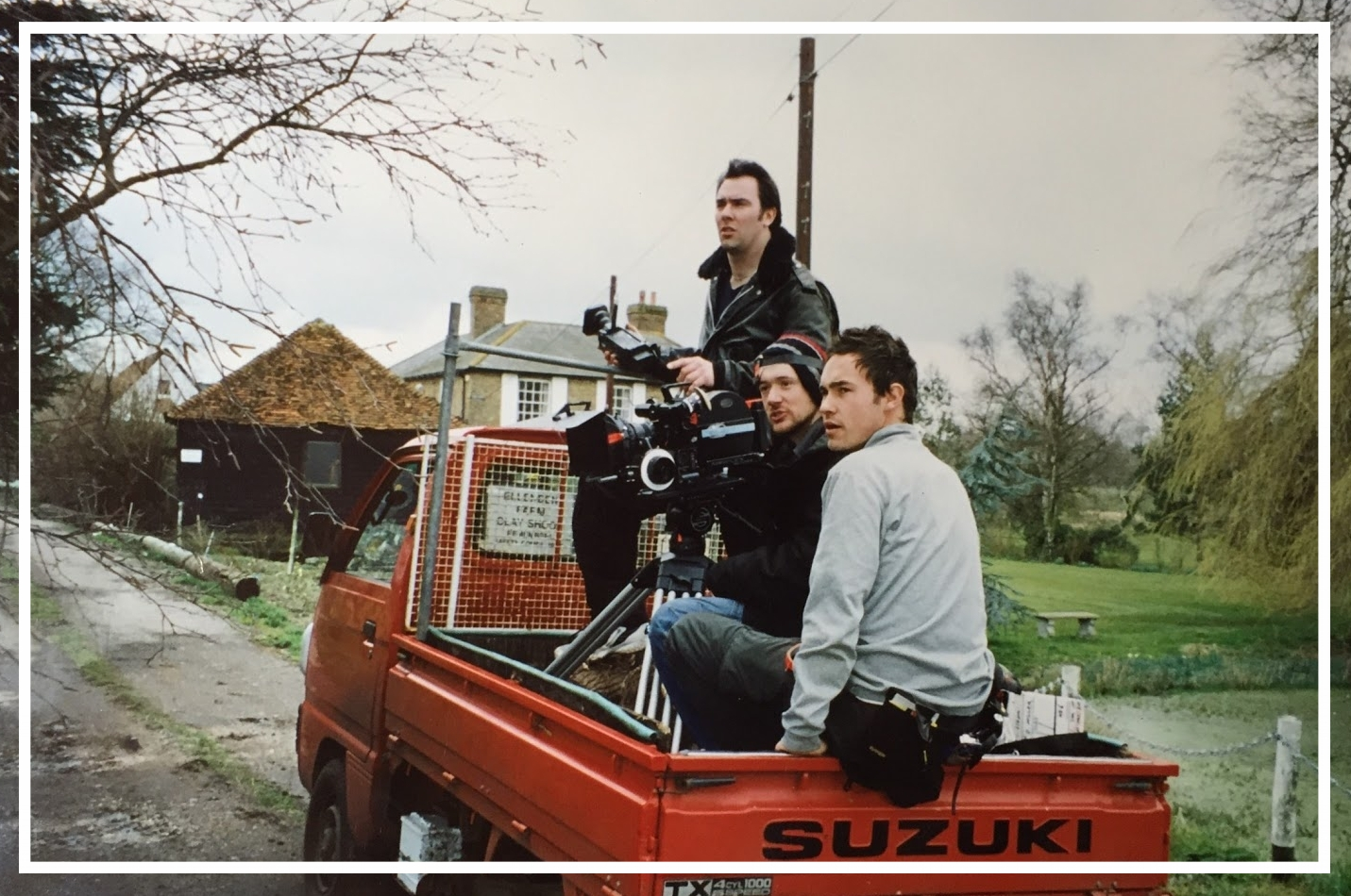 And then - 15 years later I set up Motion Picture House (mphfilm) to make moving image. This picture is my first short film in 1999 and I'm on the back of a truck with Dave and Dan shooting a short film called makeamovie.can.The film was shown at the Cannes Film Festival in 1999.