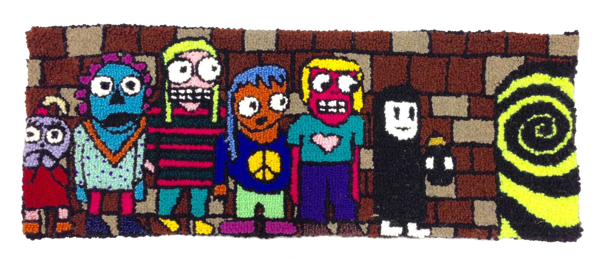adventure team  wool, acrylic, burlap  dimensions not recorded  2015