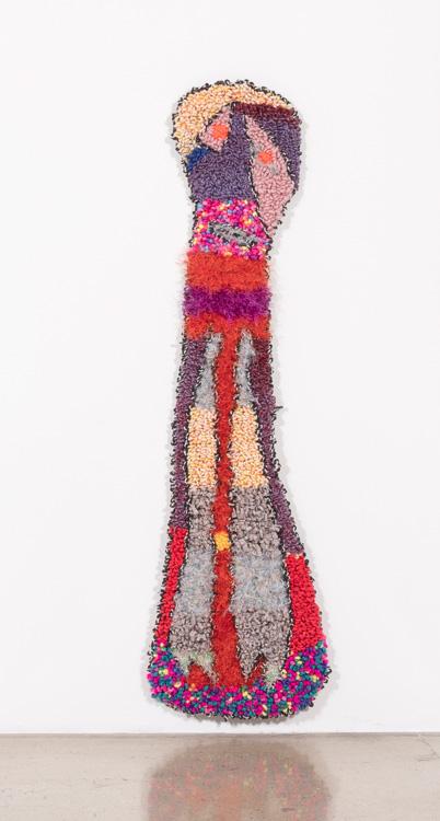 "Stretch  Wool, Acrylic, Polyester, Nylon, Burlap  53"" X 15""  2018"
