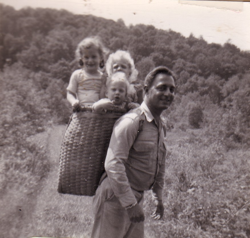 161sc-lois, nancy, betty, steve hiking 1951.jpg