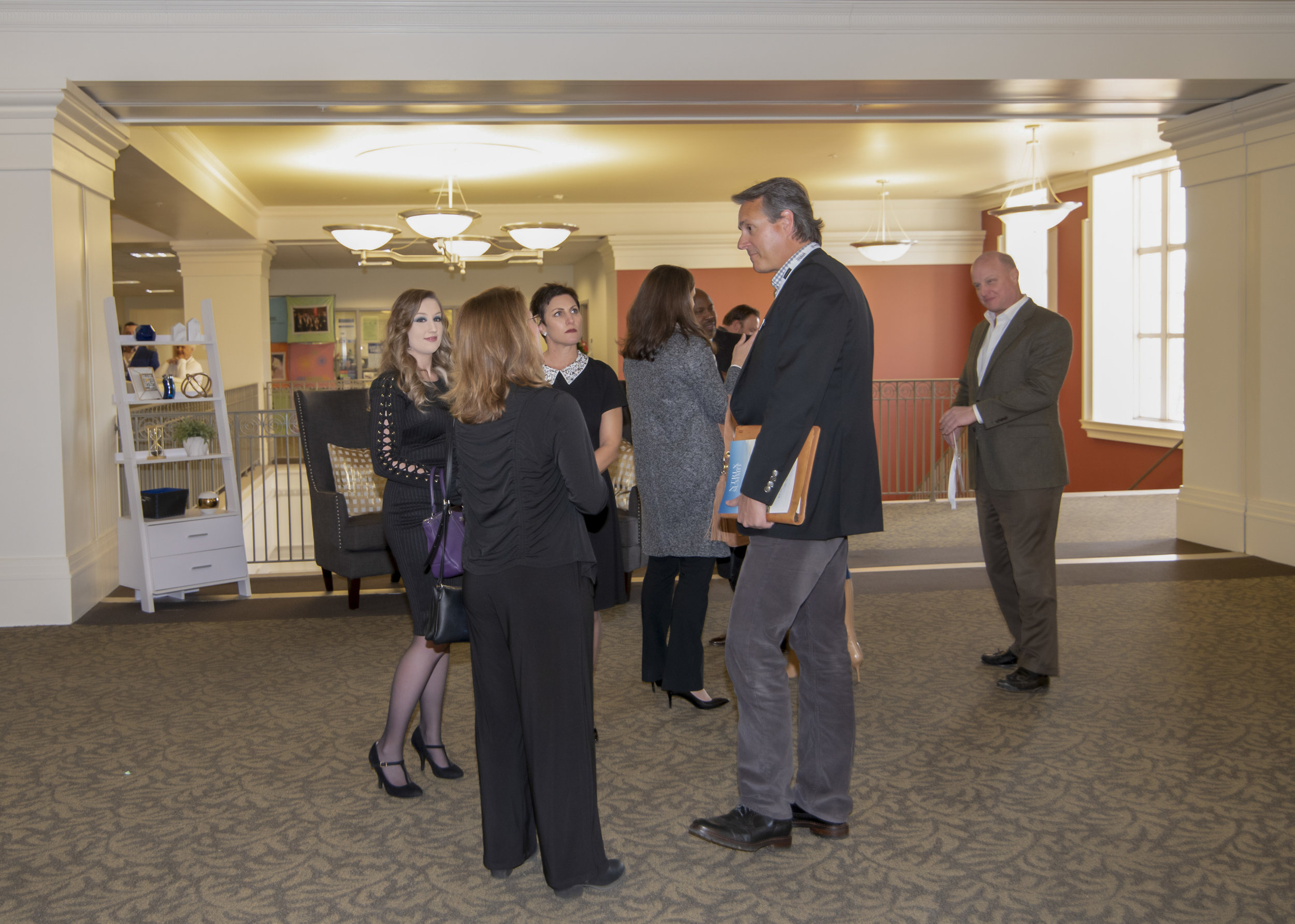 Carol Smith of Creative Home Stagers; Hanes Walker of Premier Sotheby's; Boyce Thies of Thies Realty